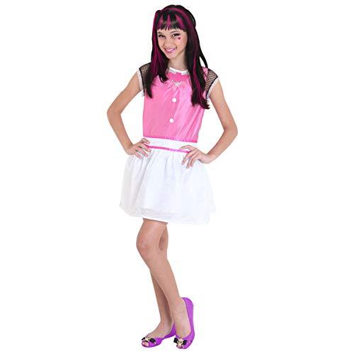 Fantasia Monster High - Draculaura Pop Sulamericana Fantasias Rosa/Branco G 10/12