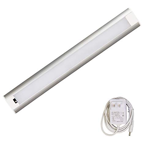 LED Under Cabinet Lighting Dimmable, Hand Wave Activated Under Counter Lighting Plug in for Kitchen 9W, 24 Inch Panel, Daylight White 4000K