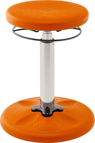 Active Children - Kore Adjustable Height Wobble Chair, Active Sitting for Children, Kids, Teens: Better Than a Balance Ball, Flexible Classroom Seating, Adjusts from 16.5 to 24 inches, Orange