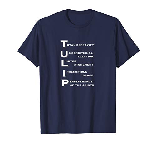 Five Points of Calvinism TULIP Acronym T-shirt Tee (Apparel)
