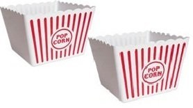 2 Jumbo Movie Night Popcorn Tubs (Plastic)