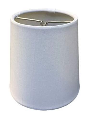 Upgradelights 4 Inch Retro Drum Clip On Chandelier Lampshade 3x4x4 (White Silk)