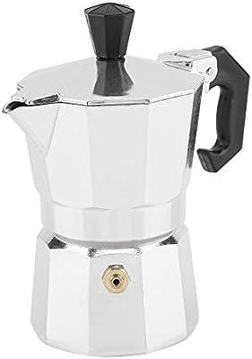 Cafetera, 30 ml 1 Taza de Aluminio Tipo Italiano Moka Pot Cafetera Espresso Estufa Uso de la Oficina en el hogar: Amazon.es: Hogar