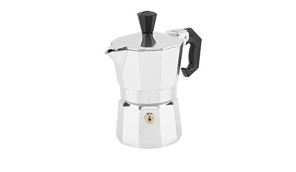 50ml Cafetera italiana Moka, 1 taza de aluminio Tipo italiano Cafetera con café espresso Moka Estufa Cocina casera para hacer café: Amazon.es: Hogar