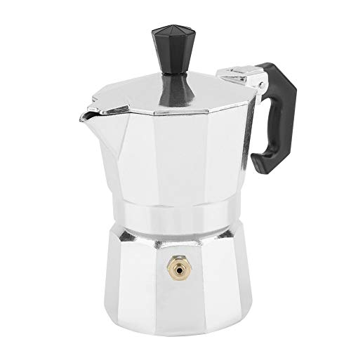Stovetop Coffee Maker, Premium Aluminum Italian Stovetop Espresso Maker Moka Pot Stove for Home Office, 1 Cup