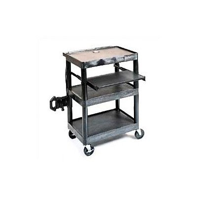 - LUXOR LT34-B Computer Mobile Overhead Workstation with Shelf