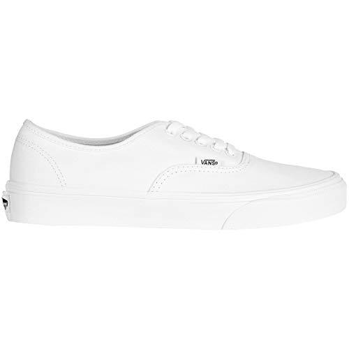 Vans Authentic(tm) Core Classics, True White, Men's 9, Women's 10.5 Medium - White Canvas Sneakers