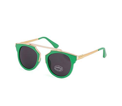 espejo Gold Gafas estilo 80 de los Green de cristales sol unisex de retro a1tOaqwv