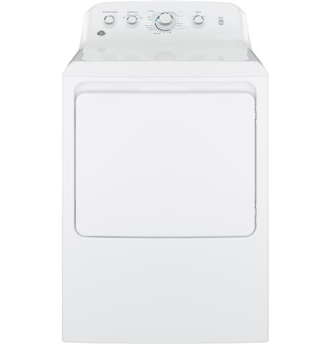 GE GTX42GASJWW 27' Front Load Gas Dryer with 6.2 cu. ft. Capacity in White