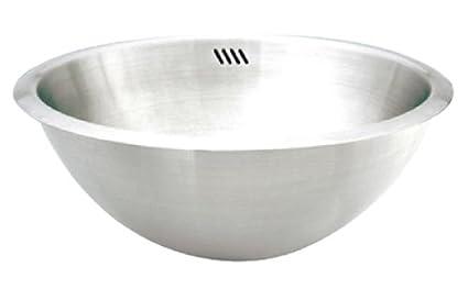 Undermount bathroom sink round Oval Undermount Image Unavailable Amazoncom Decolav 1220b Hayley Stainless Steel Round Dropin Or Undermount
