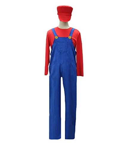 Mario's Plumber Costume, Red Adult (L) HC-036