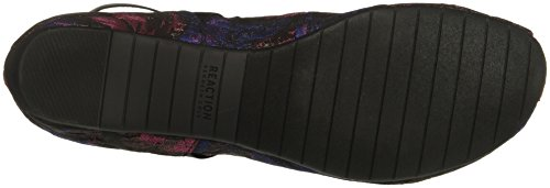 Kenneth Cole Reaction Women's Pro-Time Elastic Ankle Strap, Back Zip-Fabric Ballet Flat Navy