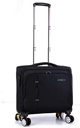 BXDYA ホイールとシート下キャリーオンローリング旅行荷物バッグ、荷物にはパッド入りラップトップコンパートメントキャリー (Color : Black)