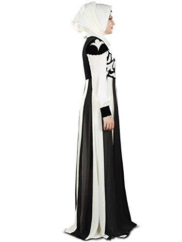 vom weg weißen burqa abaya 359 MyBatua Schwarzen u islamisch AY Parteiabnutzung u eid Entwerfer wZqZ5tER
