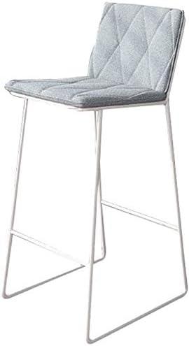 バーチェア、バースツールハイスツールクリエイティブシート、バーキッチンダイニングチェアベッドルームドレッシングスツールカフェ、49 49 92CM(色:グレー)