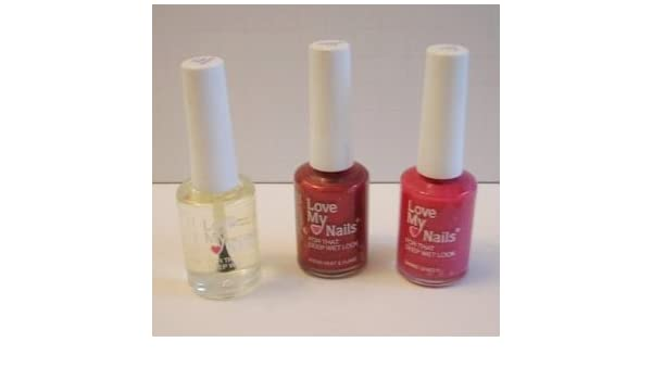 Amazon.com : Love My Nails Nail Polish Trio Set in Raspberry ...