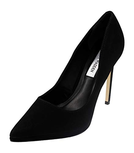 Steve Madden Women's Lovely Dress Pumps, Black Nubuck, 9.5 M