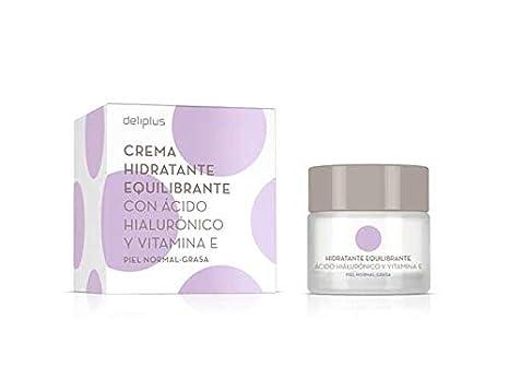 Crema Hidratante Equilibrante con Acido Hialurónico y Vitamine E 50 ml: Amazon.es: Belleza
