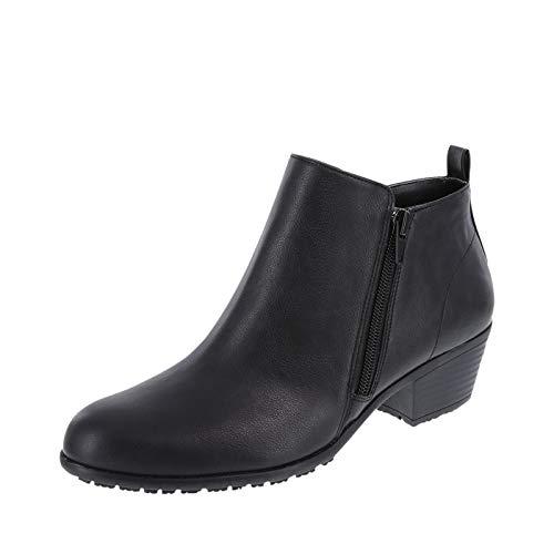 safeTstep Women s Black Women s Slip-Resistant Brenna Short Boot 5.5 Wide e6f7601b6