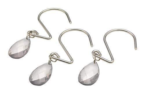 (Ben & Jonah Sage Prism Teardrop Shaped Resin Shower Curtain Hook, Set of 12 Splash Collection by Ben&Jonah)