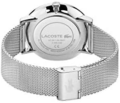 Lacoste Quartz Watch with Stainless Steel Strap, Silver, 20 (Model: 2011025) 4