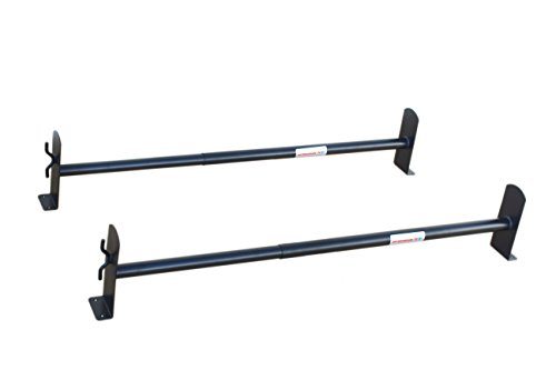 (AA-Racks Model DX36 Universal Pickup Truck Cap & Topper 2 Bar Ladder Roof Van Rack System Adjustable Steel Cross Bars - Sandy)