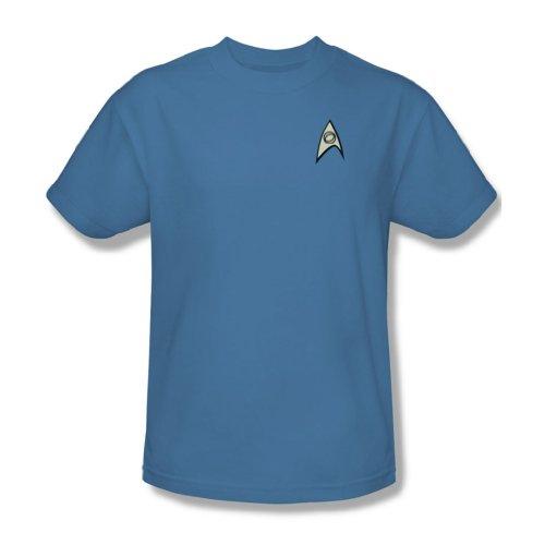 Star Trek USS Enterprise Science Crew Mr Spock Uniform Light Blue T-Shirt -