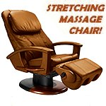 HT-135 Cappuccino Leather Massage Chair - Interactive Health Robotic Human Touch Recliner