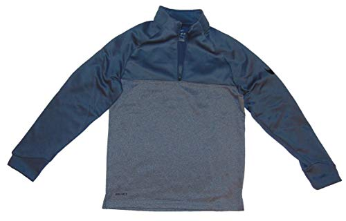 (Nike Therma Fit Boy's Half Zip Long Sleeve Shirt Large Polyester Gray)