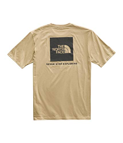 (The North Face Men's Short Sleeve Red Box Tee, Kelp Tan/TNF Black, Size XXL)