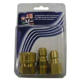 Mtm Hydro 5000 Psi 1/4'' Brass Quick Coupler And Plug Pack