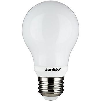 Sunlite A19/5W/BL/WW LED  A19 5W (40W Replacement) Blinker Light Bulbs, Medium (E26) Base, 3000K Warm White