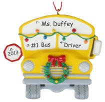 - Ornaments School Bus Personalized Christmas Tree