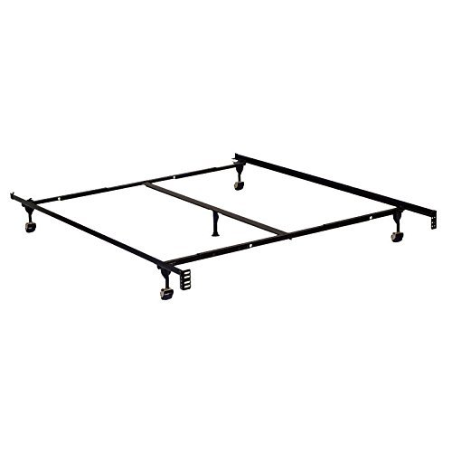 247SHOPATHOME IDF-FRAM-F/Q F/Q Bed-Frames, Queen, Black by 247SHOPATHOME