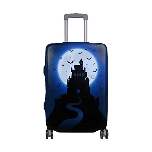Spandex Luggage Cover for Travel Halloween Haunted Houses Suitcase Protective Bag Cover Fit 29x32 in -
