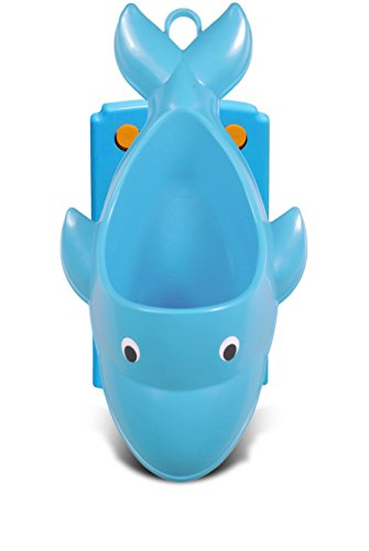 Tenby Living Blue Dolphin Potty Training Urinal for Boys - Adjustable and Easy to Use for Toddlers