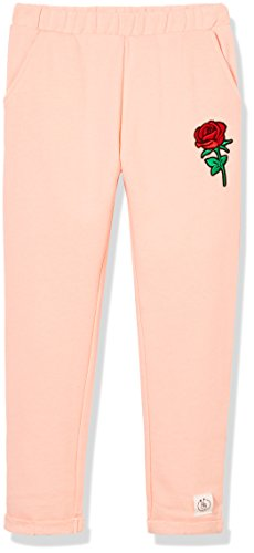 Kid Nation Kids French Terry Embroidery Ankle Crop Pants for Boys and Girls SeaSeashell Pink - Crop French Pant Terry