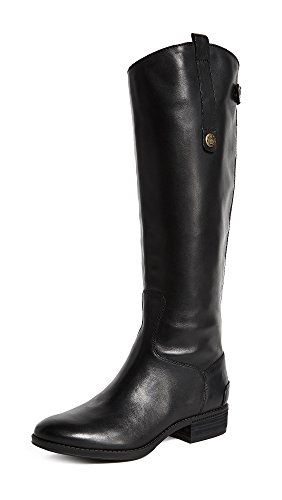 Sam Edelman Women's Penny 2 Wide-Shaft Riding Boot Black Leather