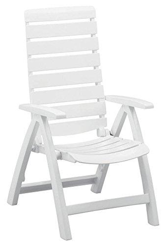 Cheap Kettler Rimini High Back Chair, White, Resin