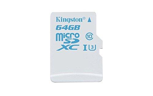 3 opinioni per Kingston Scheda microSD da 64 GB, Action Camera UHS-I U3 per GoPro e Drone,
