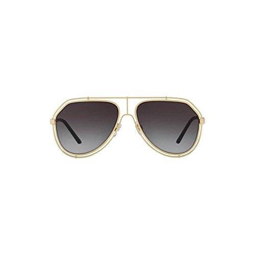 Dolce & Gabbana Women's DG6111 Black/Pink Gold/Grey Gradient One Size