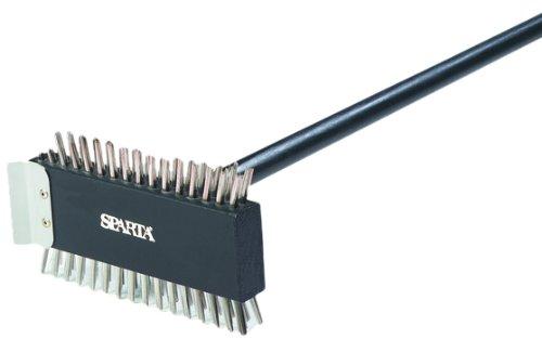 Carlisle 4029000 Broiler Master Grill Brush, Stainless Steel Bristles, 30.5'' Length, Hardwood Brush and Handle, Black by Carlisle (Image #1)