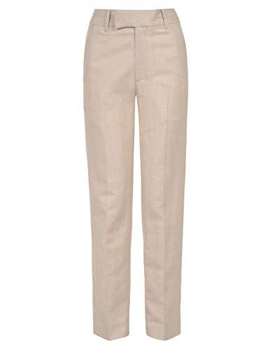 (Calvin Klein Big Boys' Linen Flat Front Dress Pant, Stone, 16)