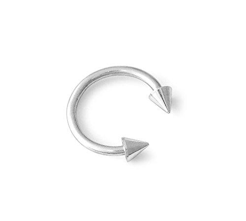- 316L Surgical Steel Circular Barbell Horseshoe Spike Cone 18g 18 Gauge 1/4