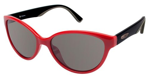 fd613b52f9 Amazon.com  Columbia Sunglasses Lolo Red matte Black C03 Smoke Lens ...