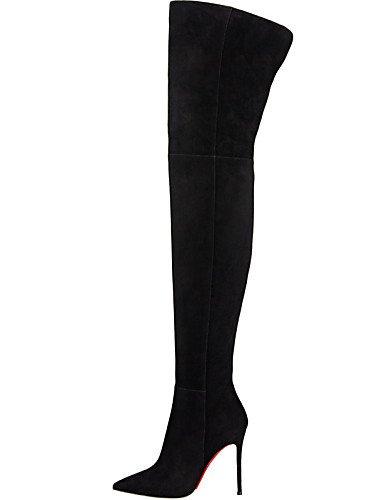 A Uk4 Tacón Vellón Cn42 Vestido Fiesta De Y 8 Eu36 Mujer Black us9 Uk7 Black Stiletto Moda Noche 10 Xzz Negro 5 Botas La 5 Casual Zapatos Eu41 us6 Puntiagudos Cn36 U tZA40