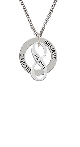 Jeremiah 29:11 Infinity Sign - Believe Affirmation Ring Necklace