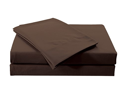 Williom Town 18 inch Ultra Deep Pocket Heavy Microfiber 4PC Sheet Sets, Coffee, Queen