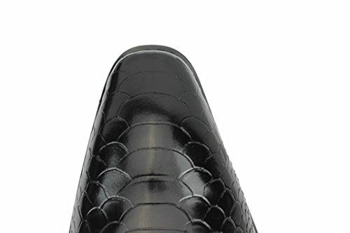 Da in Monaco vera Mocassino coccodrillo smart su Black Scarpe pelle uomo effetto rosso blu r5Uqwr