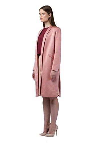 Imaima Women Long Slim Fit Cut Shiny Maxi Tan Coat Summer Coats 100% Cotton by Imaima (Image #1)